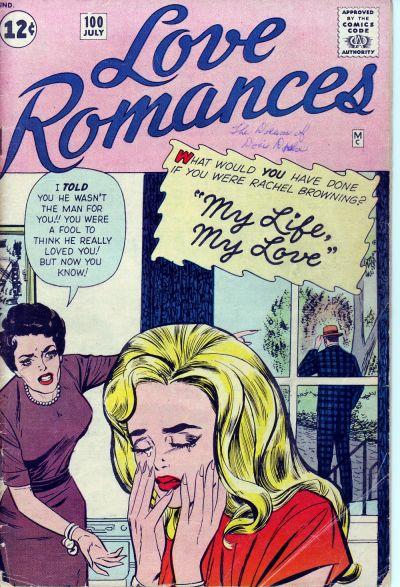 Cover for Love Romances (Marvel, 1949 series) #100