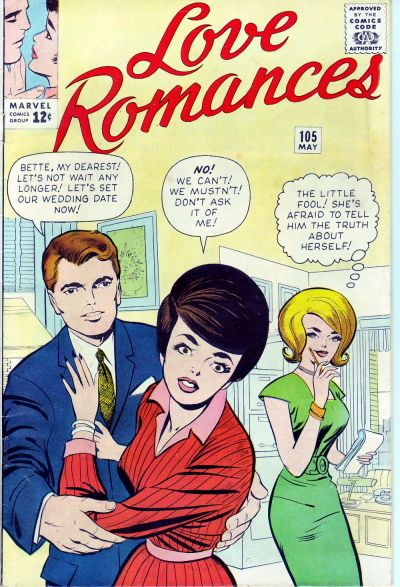Cover for Love Romances (Marvel, 1949 series) #105