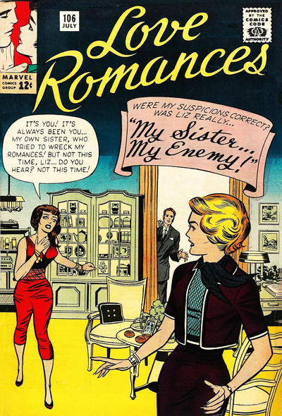 Cover for Love Romances (Marvel, 1949 series) #106