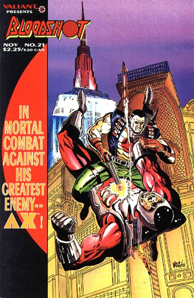 Cover for Bloodshot (Acclaim / Valiant, 1993 series) #21