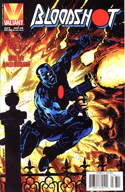 Cover for Bloodshot (Acclaim / Valiant, 1993 series) #36 [Direct Edition]