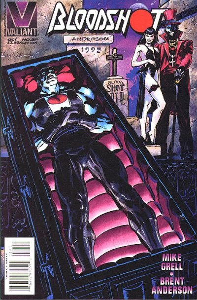 Cover for Bloodshot (Acclaim / Valiant, 1993 series) #37 [Direct Edition]