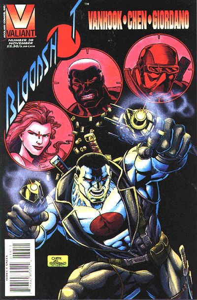 Cover for Bloodshot (Acclaim / Valiant, 1993 series) #38 [Direct Edition]