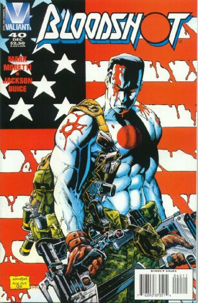 Cover for Bloodshot (Acclaim / Valiant, 1993 series) #40 [Direct Edition]