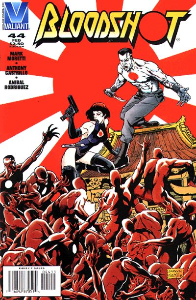 Cover for Bloodshot (Acclaim / Valiant, 1993 series) #44 [Direct Edition]