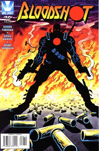 Cover for Bloodshot (Acclaim / Valiant, 1993 series) #46 [Direct Edition]