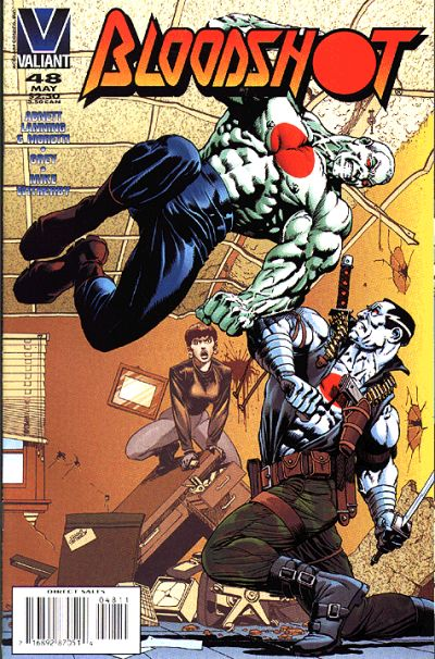 Cover for Bloodshot (Acclaim / Valiant, 1993 series) #48 [Direct Edition]