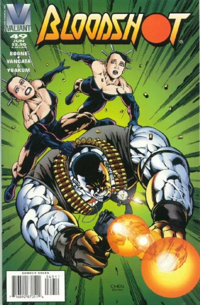 Cover for Bloodshot (Acclaim / Valiant, 1993 series) #49 [Direct Edition]
