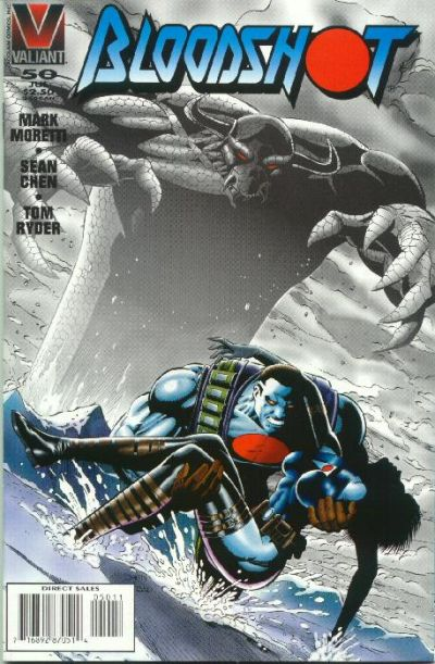 Cover for Bloodshot (Acclaim / Valiant, 1993 series) #50 [Direct Edition]