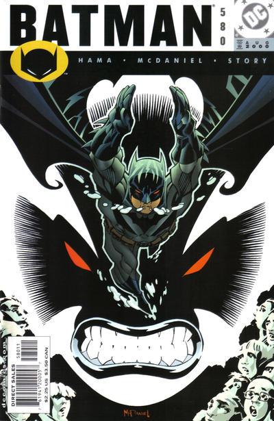 Cover for Batman (DC, 1940 series) #580