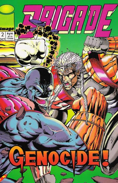 Cover for Brigade (Image, 1992 series) #2 [Direct Edition]
