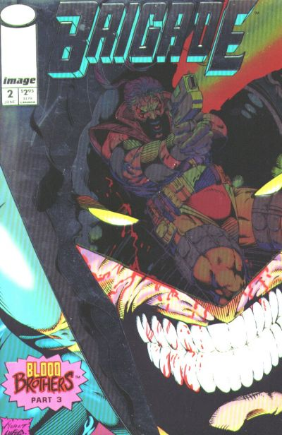 Cover for Brigade (Image, 1993 series) #2 [Direct Edition]