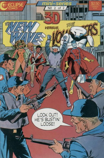 Cover for The New Wave vs. the Volunteers (Eclipse, 1987 series) #2
