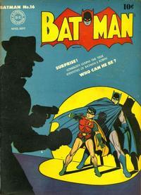 Cover Thumbnail for Batman (DC, 1940 series) #16