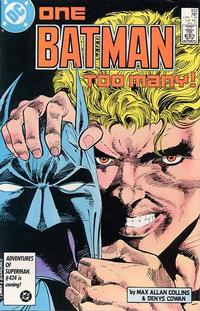 Cover Thumbnail for Batman (DC, 1940 series) #403 [Direct]