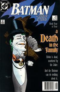 Cover Thumbnail for Batman (DC, 1940 series) #429 [Newsstand]