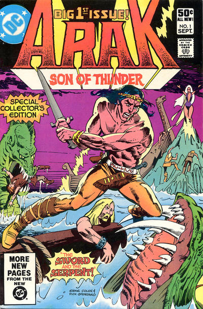 Cover for Arak / Son of Thunder (DC, 1981 series) #1 [Direct Sales]