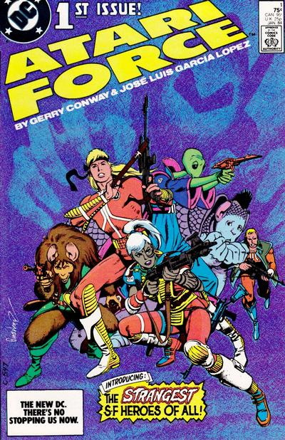 Cover for Atari Force (DC, 1984 series) #1 [Direct Edition]