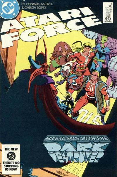 Cover for Atari Force (DC, 1984 series) #5 [Direct Edition]