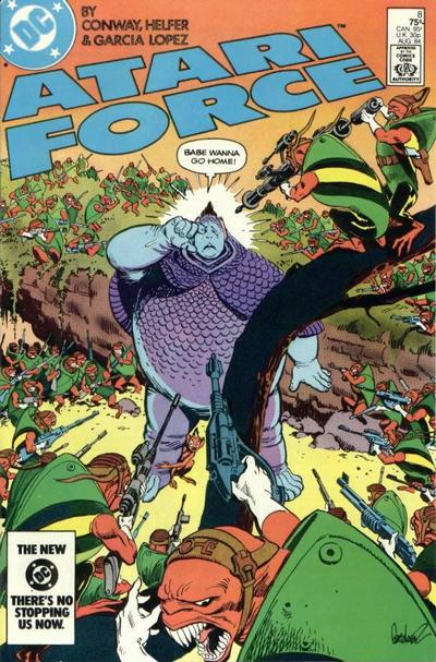 Cover for Atari Force (DC, 1984 series) #8 [Direct Edition ]