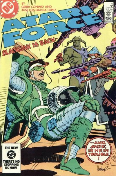 Cover for Atari Force (DC, 1984 series) #10 [Direct Edition]