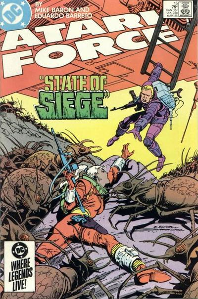 Cover for Atari Force (DC, 1984 series) #15 [Direct Edition]