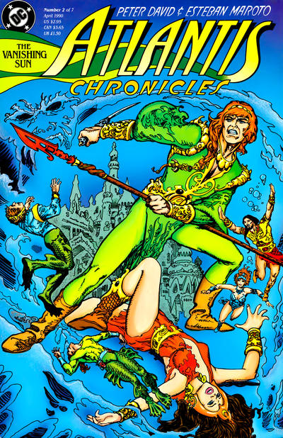 Cover for The Atlantis Chronicles (DC, 1990 series) #2