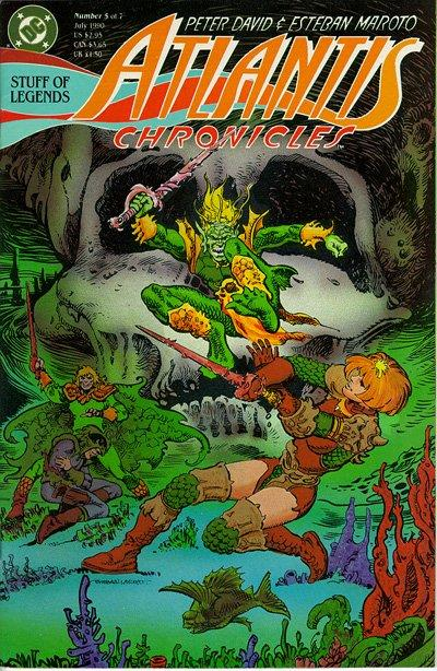 Cover for The Atlantis Chronicles (DC, 1990 series) #5
