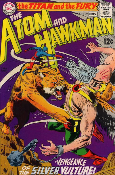 Cover for The Atom & Hawkman (DC, 1968 series) #39