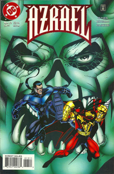 Cover for Azrael (DC, 1995 series) #13 [Direct Sales]