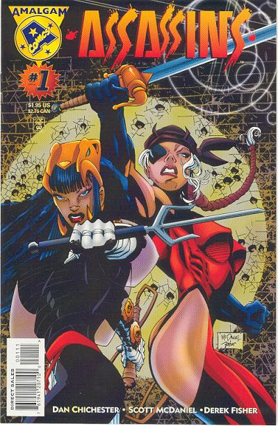 Cover for Assassins (DC, 1996 series) #1 [Direct Edition]