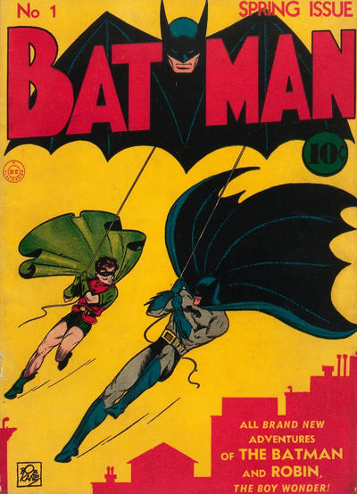 "Cover for Batman (DC, 1940 series) #1 [""No Period"" Variant]"
