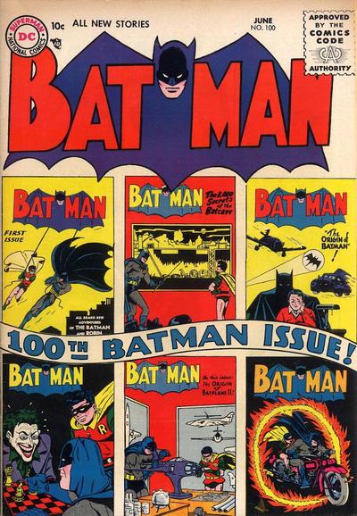 Cover for Batman (DC, 1940 series) #100