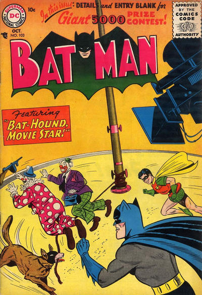 Cover for Batman (DC, 1940 series) #103