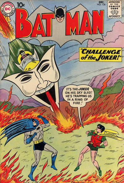 Cover for Batman (DC, 1940 series) #136