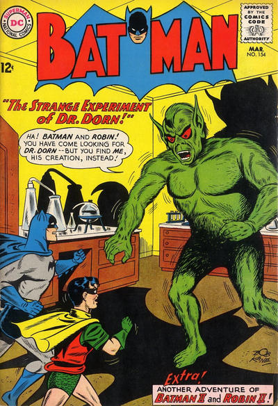 Cover for Batman (DC, 1940 series) #154