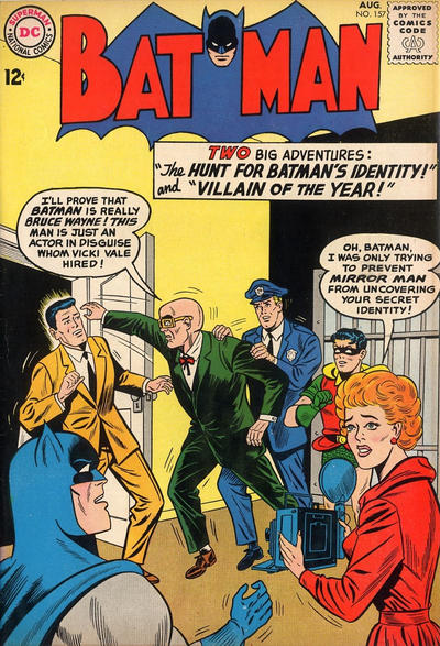 Cover for Batman (DC, 1940 series) #157