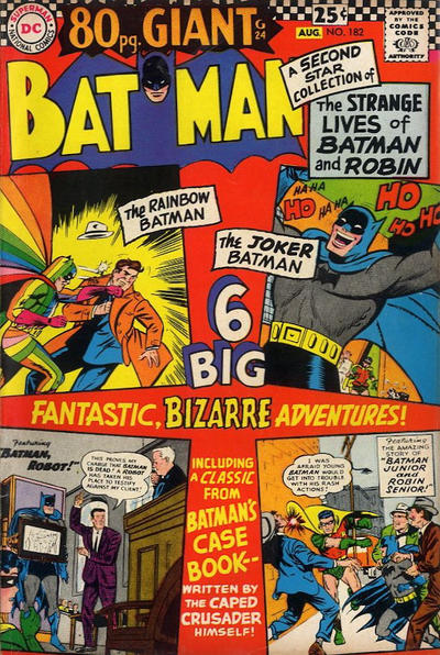 Cover for Batman (DC, 1940 series) #182