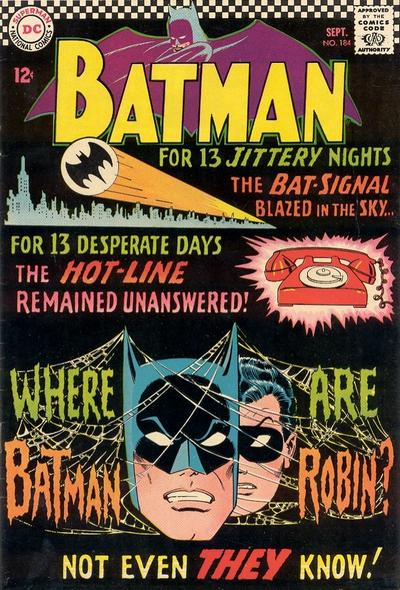 Cover for Batman (DC, 1940 series) #184