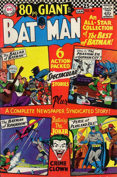 Cover for Batman (DC, 1940 series) #187