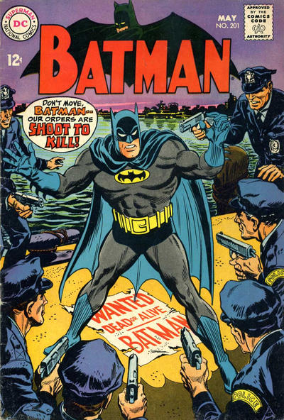 Cover for Batman (DC, 1940 series) #201