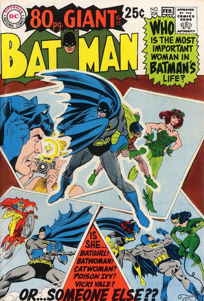 Cover for Batman (DC, 1940 series) #208