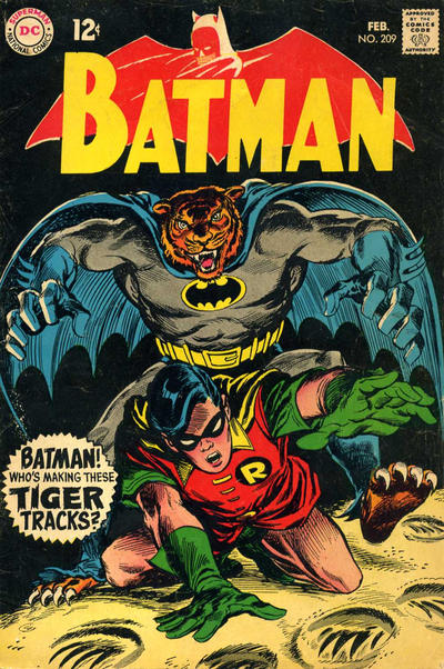 Cover for Batman (DC, 1940 series) #209