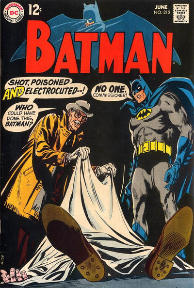 Cover for Batman (DC, 1940 series) #212