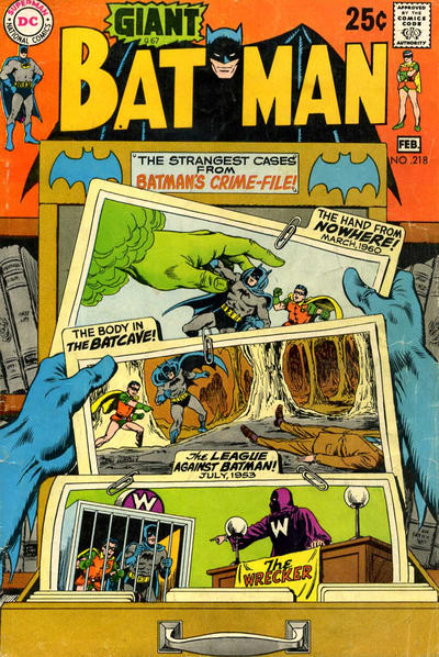 Cover for Batman (DC, 1940 series) #218