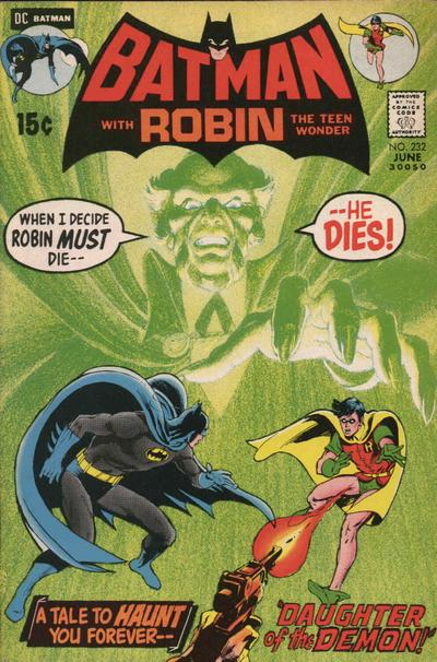 Cover for Batman (DC, 1940 series) #232