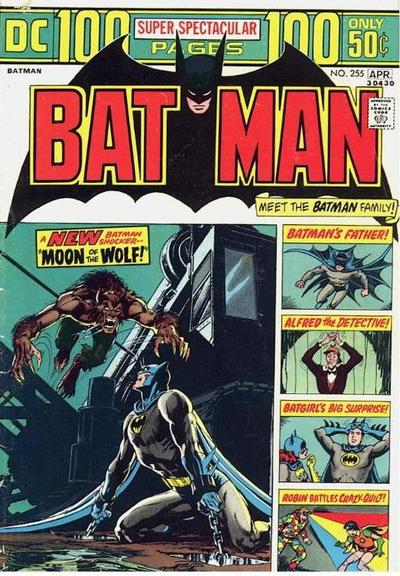 Cover for Batman (DC, 1940 series) #255