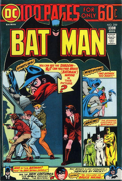 Cover for Batman (DC, 1940 series) #259