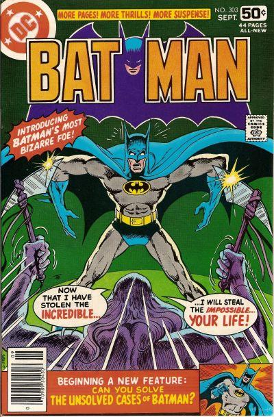 Cover for Batman (DC, 1940 series) #303