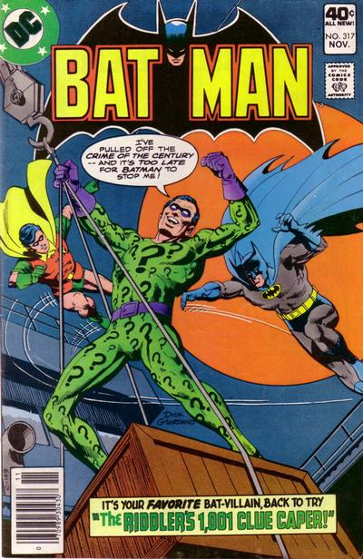 Cover for Batman (DC, 1940 series) #317